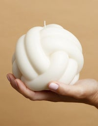 Blobbies In Knots Candle - White