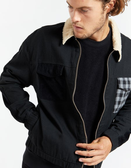 Mix Work Jacket - Black