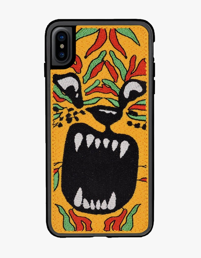 Tiger iPhone XS Max Case - Yellow