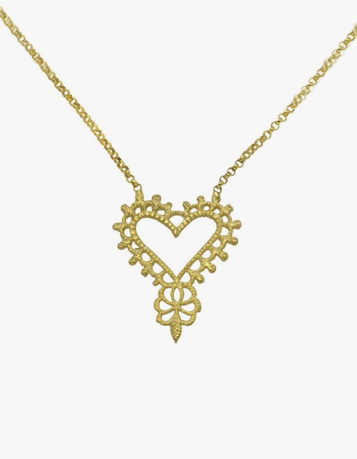 Gypsy Love Necklace - Gold Plated