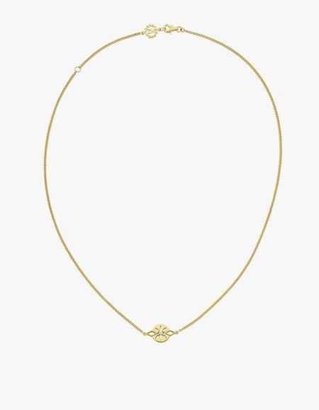 Zia Necklace - Gold Plated/White Zircon