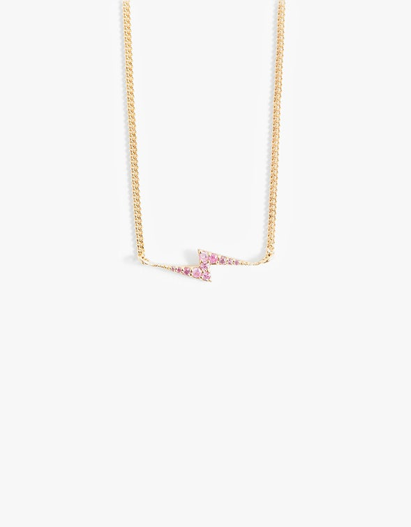 Zoe & Morgan x Superette Spark Necklace - Gold Plated/Pink Sapphire