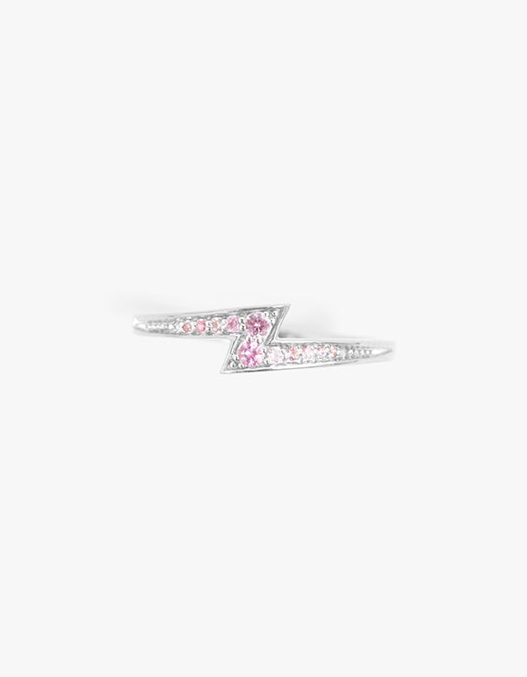 Zoe & Morgan x Superette Electric Love Ring - Sterling Silver/Pink Sapphire